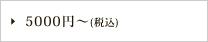 5000円〜(税込)
